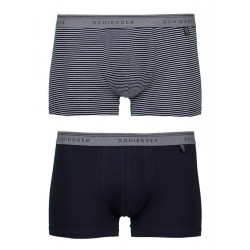 Schiesser  Shorts 95/5 - 2-pack (set van 2 shorts) 1 effen/1 streep 141503