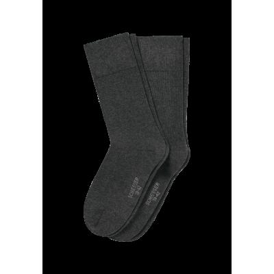 Schiesser heren sokken - Cotton Fit- 2 pack 158425 - antraciet
