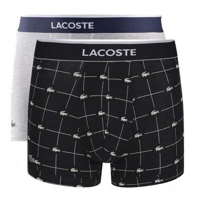 LACOSTE - Set van 2 korte shorts - zwart/grijs
